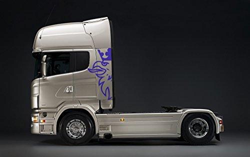 Preisvergleich Produktbild Scania Truck Große Aufkleber - 5 Farben - 150cm x 71cm (Blau)