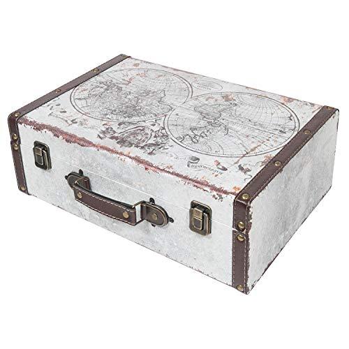 HMF 6430-138 Koffer Vintage | Holz Aufbewahrungsbox | Design Welt | 38 x 26 x 13 cm