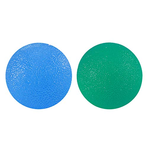 Healifty 2 Stück Handtherapie-Bälle Handübungen und Stärkung des Balls, Fingerwiderstand, Übung, Squeeze Ball Hand Rehabilitation Training Ball (grün und blau) - Übung Squeeze Ball