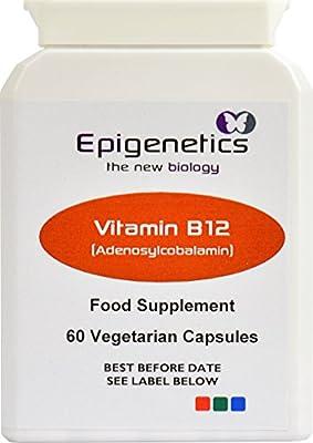 Vitamin B12 (Adenosylcobalamin) pack of 60 capsules from Epigenetics Ltd