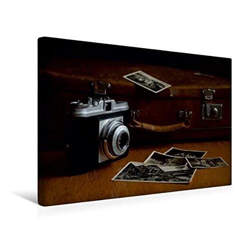 Calvendo Premium Textil-Leinwand 45 cm x 30 cm Quer, Älteres Modell Einer Kleinbildkamera | Wandbild, Bild auf Keilrahmen, Fertigbild auf Echter Leinwand. historischen Fotoapparats Hobbys Hobbys