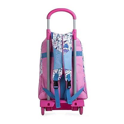 41G8zS2Ef5L. SS416  - SKPAT - Mochila Escolar con Ruedas Infantil para Niña. Carro Trolley. Asa de Mano. Tiras Ajustables. Cómoda Ligera Resistente e Impermeable. para Colegio. Estudiante. 53692, Color Rosa