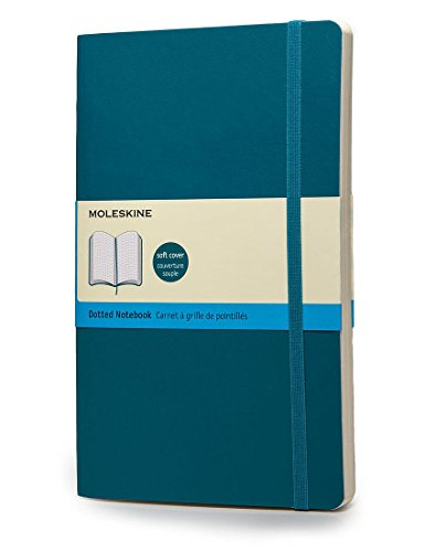 Moleskine Taccuino Classic Colored Notebook, Large, Puntinato, Blu Oltremare