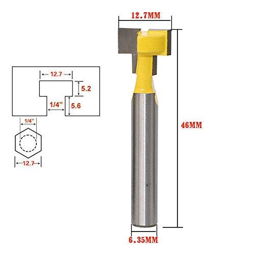 """1/4 """"Schaft T-Slot Cutter Schaftfräser Fräser 1/2"""" Durchmesser Keyhole Trimmen Messer Holzbearbeitungswerkzeuge"""