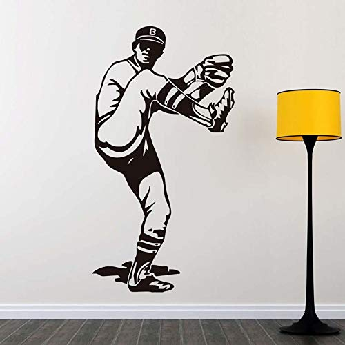 mlpnko Wohnzimmer Baseball krug wandaufkleber abnehmbare Dekoration Sport Charakter Grafik Aufkleber 63x120 cm