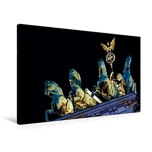 Preisvergleich Produktbild Premium Textil-Leinwand 75 cm x 50 cm quer, Brandenburger Tor | Wandbild, Bild auf Keilrahmen, Fertigbild auf echter Leinwand, Leinwanddruck: Quadriga (CALVENDO Orte)