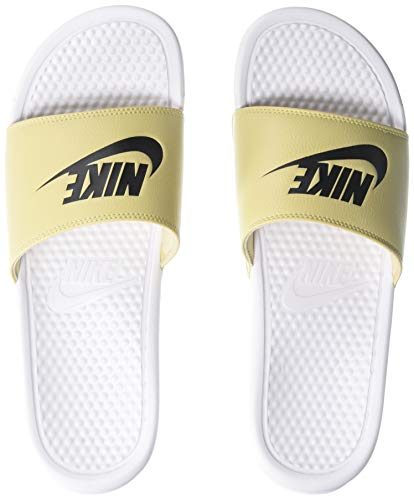 Nike benassi jdi, scarpe da spiaggia e piscina uomo, bianco (white/black/team gold 108), 41 eu