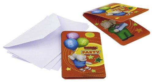 Riethmüller - 552243 - Décoration de Fête - 6 Cartes d'Invitation Babar