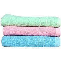 RBK Multicolor Cotton Bath Towels (Pack Of 3)
