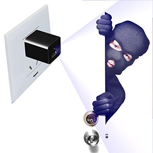 Versteckte Kamera Spion Kamera Bewegung aktiviert Full HD 1080p Wand Ladegerät Mini Camcorder Adapter Überwachung Video Recorder mit 32GB internen Speicher