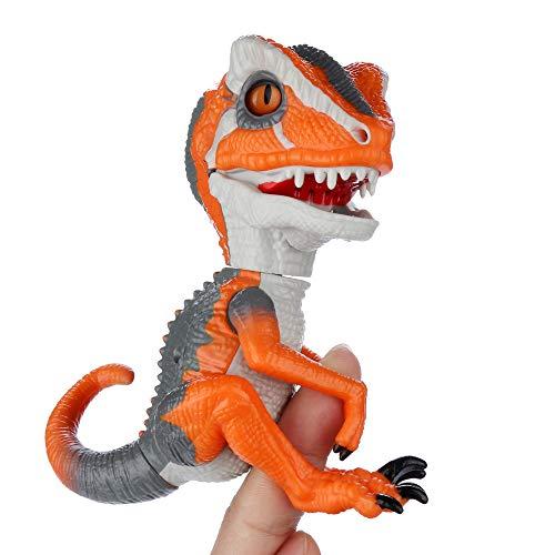 YDZDQ Finger Dinosaur, T-Rex Dinosaur Hand Puppet Toys, Interactive T-Rex Finger Dinosaur, Children's Gift Choose, Collectible Dinosaur Model Toy (T-Rex Orange)
