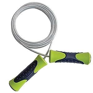 66fit corde sauter pro vitesse c ble d 39 acier vert noir sports et loisirs. Black Bedroom Furniture Sets. Home Design Ideas