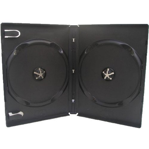 Four Square Media 1 x CD DVD/BLU RAY 14 mm Nero DVD custodia doppia per 2 Disc - confezione da 1