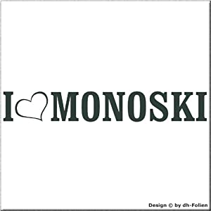 cartattoo4you AL-00912 | I LOVE (als Herz) MONOSKI | Autoaufkleber Aufkleber...