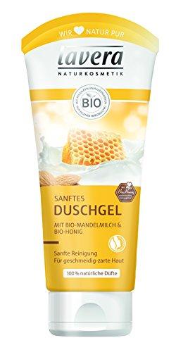 Lavera Duschgel Bio-Mandelmilch und Bio-Honig, 4er Pack (4 x 200 ml) -