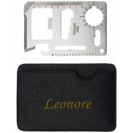 Preisvergleich Produktbild Mehrzweckwerkzeug mit gravierten Halter mit Namen: Leonore (Vorname/Zuname/Spitzname)