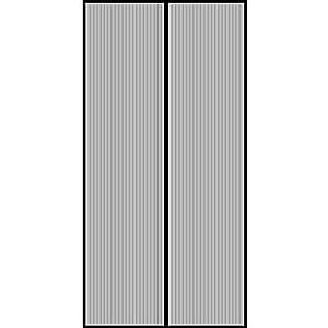 GIMARS Fliegengitter Tür Insektenschutz 90x210 cm / 100x220 cm / 110x220 cm Magnet Vorhang Fliegenvorhang Moskitonetz für Balkontür Wohnzimmer Terrassentür, Klebmontage ohne Bohren (100*220)