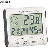 douself® LCD Digital thermomètre hygromètre température humidité compteur horloge / magnétique
