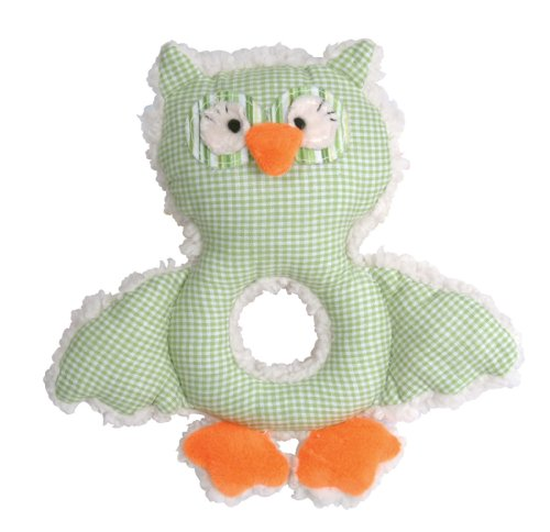 stephan-baby-shabby-owl-shaggy-sherpa-and-gingham-rattle-green