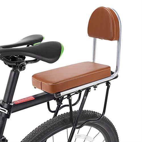 Joyfitness Fahrrad hinterer Sitz Kind Fahrrad Fahrrad hinterer Handlauf Armlehne Kinderträger Fahrrad zurück SeatSoft Kissen Gepäckträger Sitz,Brown (Fahrrad Sitz Zurück)