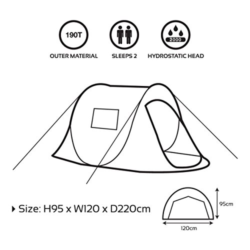 Milestone C&ing Two Person Pop Up Tent ...  sc 1 st  UK Sports Outdoors C&ing Hiking Jogging Gym fitness wear Yoga : two person pop up tent - memphite.com