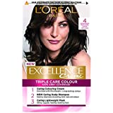 L'Oreal Paris Excellence - 4 Naturale Marrone Scuro, 4 Natural Dark Brown