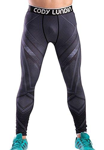 Cody Lundin Herren Filmfigur gedruckt Motion funktionelle Fitness laufen Party Outdoorhosen Leggings männlich (Stil C, M)
