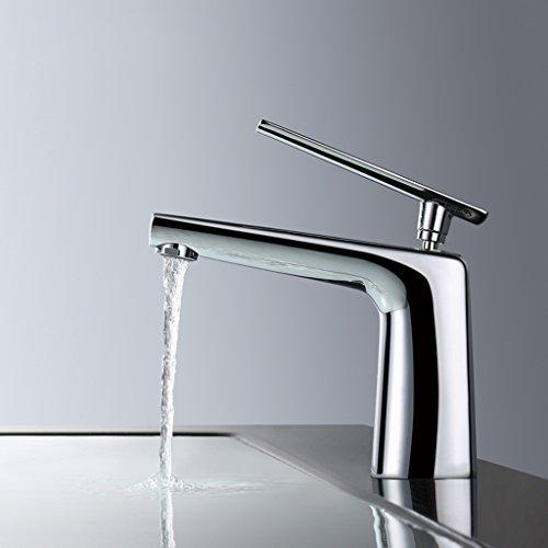 Tout cuivre chaud et l'eau du bassin froid Tap Bathroom Faucet Bassin de simple robinet d'évier salle de bains ( couleur : Blanc )