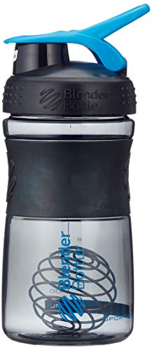 BlenderBottle Sportmixer Tritan Shaker   Protein Shaker   Wasserflasche   Diät shaker Black - Cyan (20oz / 590ml) - Flasche Oz Mixer 20