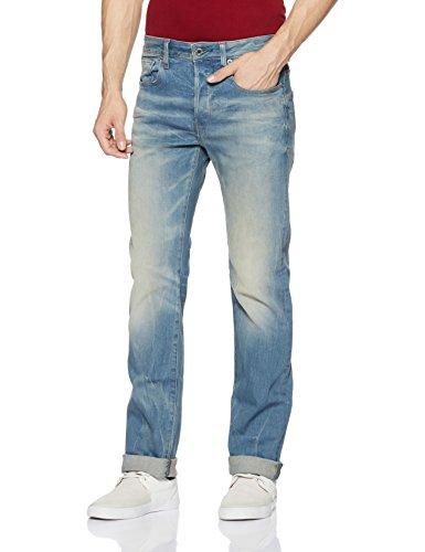 G-Star Herren Straight Leg, Jeans, 3301, 51002.6541.424.30.38, GR. W38/L30 (Herstellergröße: 38W x 30L), Blau -