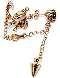Amaro Ohrring PRIMITIVE Skull rosegold -black
