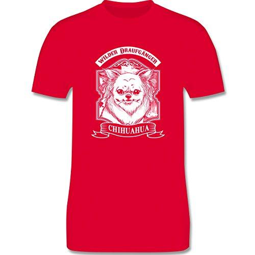Hunde - Chihuahua - wilder Draufgänger - Herren Premium T-Shirt Rot