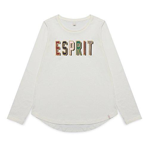 ESPRIT Mädchen Langarmshirt RK10175, Weiß (Off White 110), 152 (Herstellergröße: M)