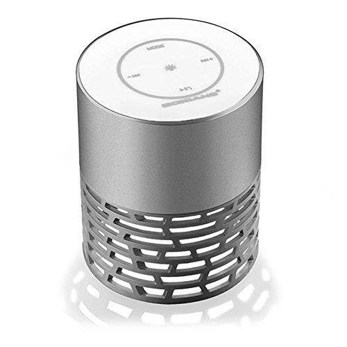 BoXiang Q5 drahtlose Lautsprecher, tragbare Stereo-Lautsprecher Musik-Player mit HD-Audio und Enhanced Bass, Bluetooth 4.0, Freisprechen, FM-Radio und TF-Kartensteckplatz, LED-Leuchten Nachttischlampe