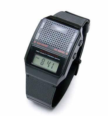 Profi LAUT Sprechende Armbanduhr mit Lautsprecher Blindenuhr Uhr für Blinde Senioren