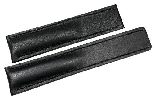 20mm für Tag Heuer Faltschließe Lederband Handgemacht Deutsch Schwarz Uhrenarmband
