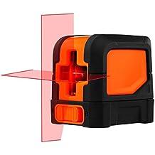 Suaoki - Nivel Láser de Cruz, Nivelador Láser de Líneas Cruzadas Autonivelante (Alta nivelación precisión ±0.3mm/m, IP54 a prueba de polvos, baterías incluídas)
