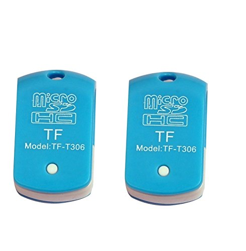 TF-T306 USB Single Card Reader (Pack of 2 Pcs) for TF, M2, Micro SD, T-Flash Memory Cards (Colors May Vary) - Only from M.P.Enterprises