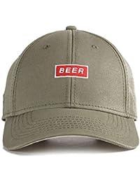 c20325ea857184 URBAN MONKEY Unisex Olive Color Beer Dad Cap-Free Size, 100% Cotton Cap