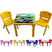 Strong Kids children Table and Chairs set for Study Garden Indoor outdoor Home and Nursery