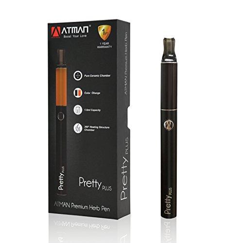 ATMAN® Pretty Plus Vaporizer Pen Verdampfer für Kräuter Vaporizer für trockene Kräuter Portabler Verdampfer,1.8ml Keramikkammer und 360 Grad Heizung Nein Nikotin