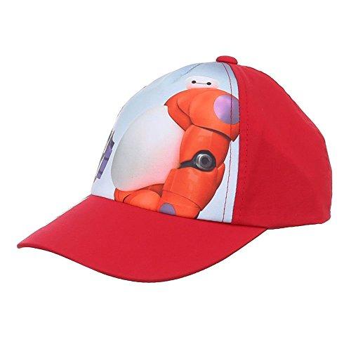 Jungen Mützen, Jungen Kappe Big Hero 6 Mützen Disney Big Hero 6 Schirmmütze Cap, Rot, in Größe 52 (Big Hero 6-beanie)