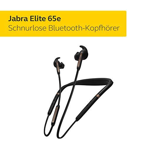 Jabra Elite 65e Wireless Stereo ANC in-Ear-Kopfhörer (Bluetooth, professionelles Active Noise Cancellation, Nackenbügel, Sprachsteuerung für Alexa, Siri und Google Assistant) kupfer schwarz - 2