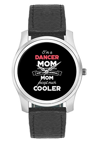 BigOwl I'm A Runner Mom Just Like A Normal Mom Except Way Cooler | Gift for Runner Fashion Watches for Girls - Awesome Gift for Daughter/Sister/Wife/Girlfriend - Casual Quirky Typography Designer Analog Leather Band Watch (Perfect Gift for Girls)