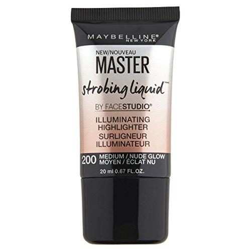 MAYBELLINE Facestudio Master Strobing Liquid Illuminating Highlighter - 200 Medium/Nude Glow (Highlighter Illuminating)