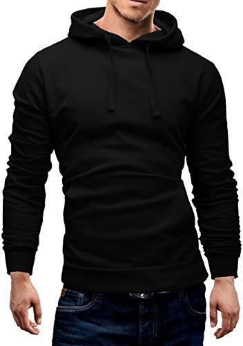 Merish Hoodie Sweatshirt Herren Pullover Kaupuzenpullover Pulli Sweater 9 Farben S-XXL Modell 210 Schwarz M