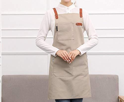 Opak Kochen leinwand Küchenschürze Für Frau Männer Chef Cafe Shop BBQ Schürzen Benutzerdefinierte Logo Backen Restaurant, M (Bbq Schürze Shop)