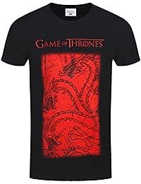 Game of Thrones Men's Targaryen Dragon Black GoT T-shirt