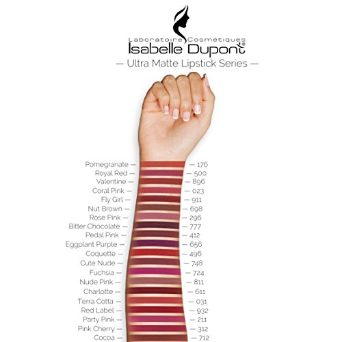 20 Colours - Long Lasting Intense Wear ULTRA MATTE Lipstick by Isabelle Dupont � - ROSE PINK