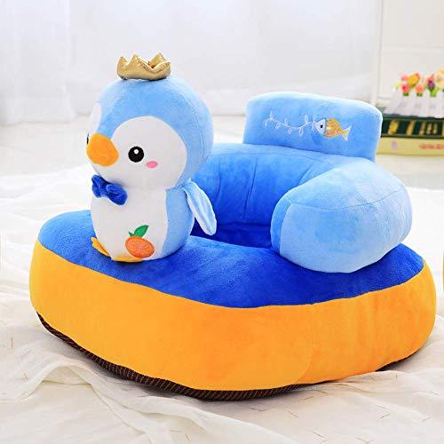 Kindersessel,Cartoon Sitz Hocker Tier Kindersessel, waschbar Couch Plüschtiere Polstermöbel,Blau,W55xH40cm(22x16inch) -